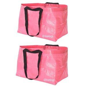 💖NEW SET💖2 IKEA Pink LE Frakta Slukis Tote Bags